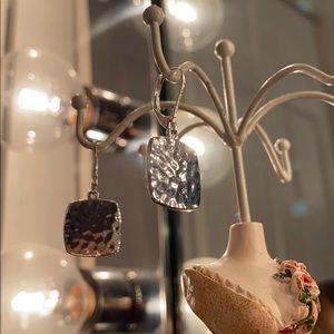 Nine west silver dangle earrings